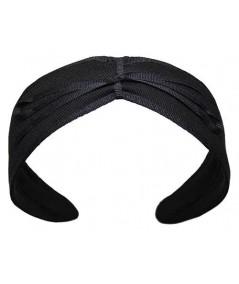 Black Headband with Navy Bow by Jennifer Ouellette
