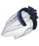 Tulle Fascinator with Side Flower Detail