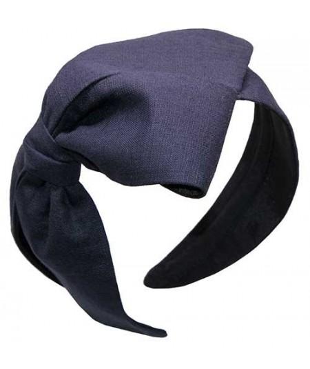 Linen Bow Headpiece