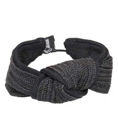Black Straw and Black Grosgrain Bow Wristband