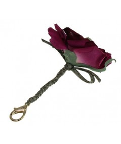 Rose Flower with Toyo Sting and Bow Handbag Charm