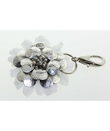 Metal Flower with Daisy Flower Handbag Charm