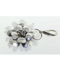 Metal Flower with Daisy Flower Handbag Charm