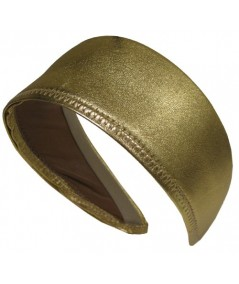 Metallic Leather Extra Wide Headband
