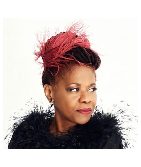 Rouge Feather Headband