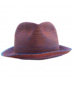 frankie color stitch fedora PASANO