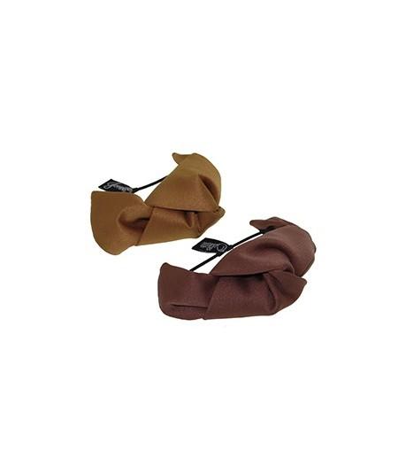 Antique Gold - Cocoa Satin Knot Ponytail Holder or Bracelet