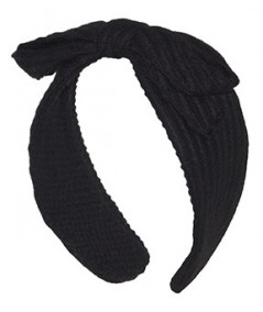 Black Track Boucle Center Bow Earmuffs