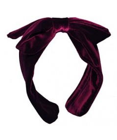 Burgundy Velvet Center Bow Earmuff