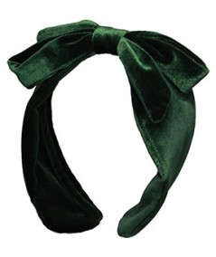 Bottle Green Velvet Center Bow Earmuff
