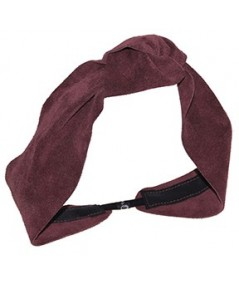 Burgundy Suede Knot Turban Head Wrap