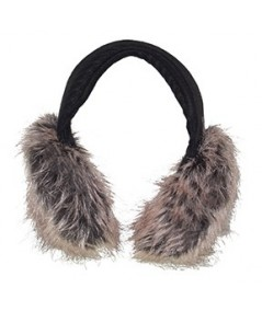 Tweed Earmuffs with Faux Fur