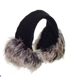 Valentina Wool and Faux Fur Fashion Earmuff