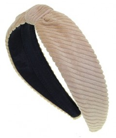 Beige Corduroy Center Divot Headband