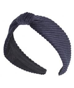 Navy Corduroy Center Divot Headband