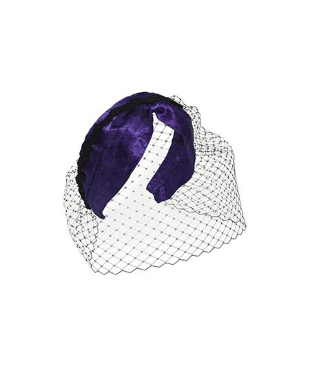 Satin Extra Wide with Center Divot Trimmed with Braid Fascinator