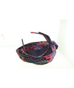 Velvet Print Headpiece Fascinator