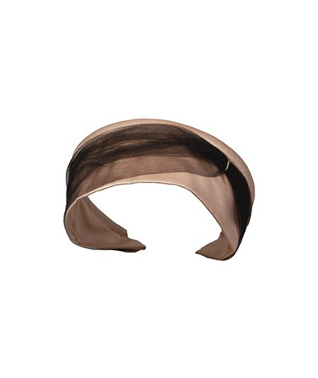 Satin with Tulle Side Divot and Color Stitch Headband