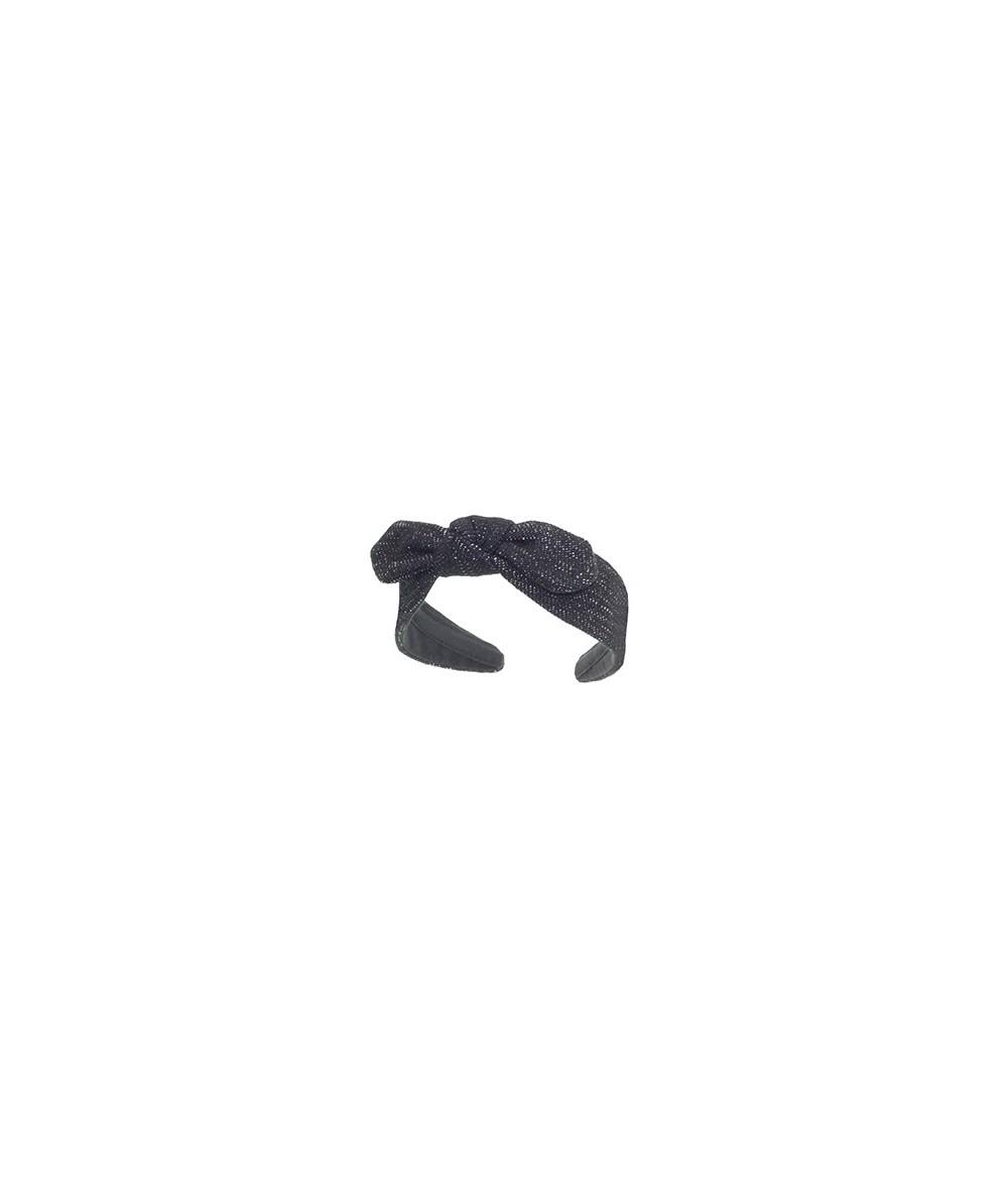 Vintage Black Wool Center Riveter Bow Headband