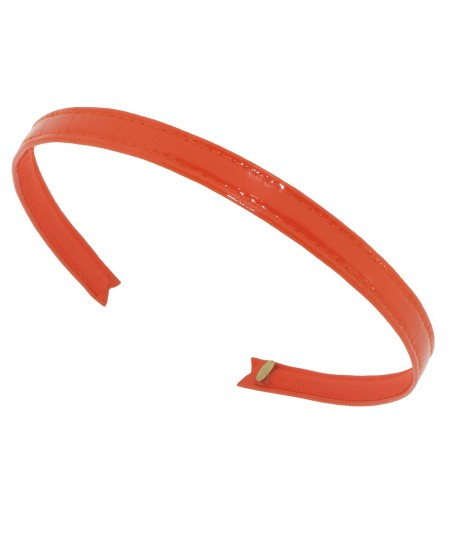 Patent Leather Headband - Orange