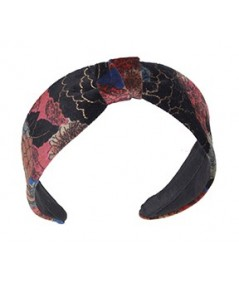 Velvet Print Headband with Center Divot