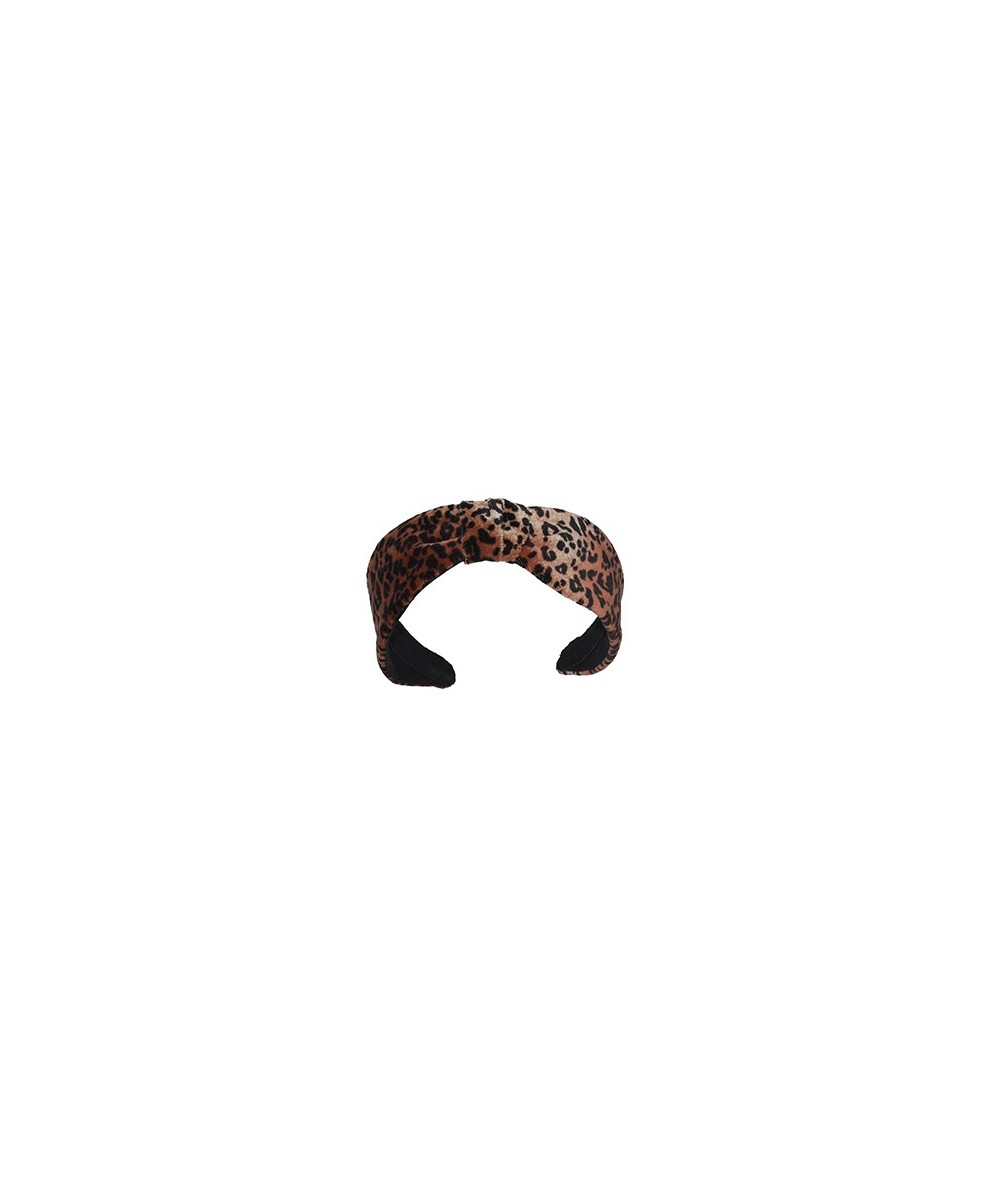 Leopard Velvet Center Divot Headband