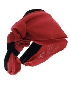 Draped Chiffon Side Bow with Contrasting Velvet Headband