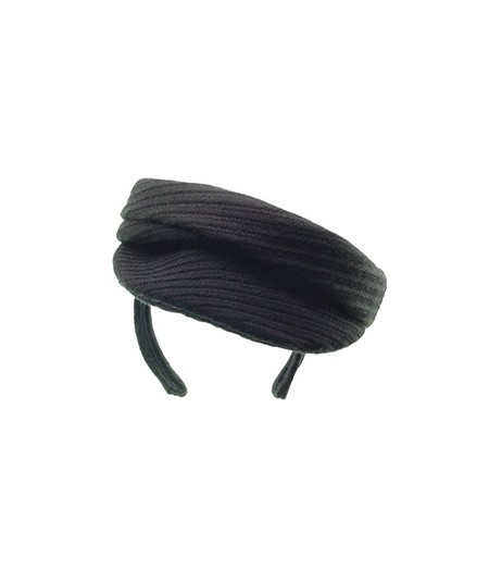 Black Track Boucle Beret Cap Headpiece