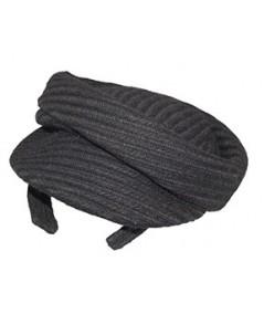 Black Track Boucle Beret Cap Headpiece