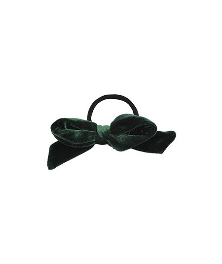 Green Bottle Velvet Fabric Bow Hair Elastic