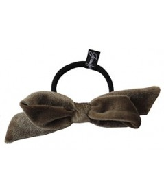 Nuss Velvet Fabric Bow Hair Elastic