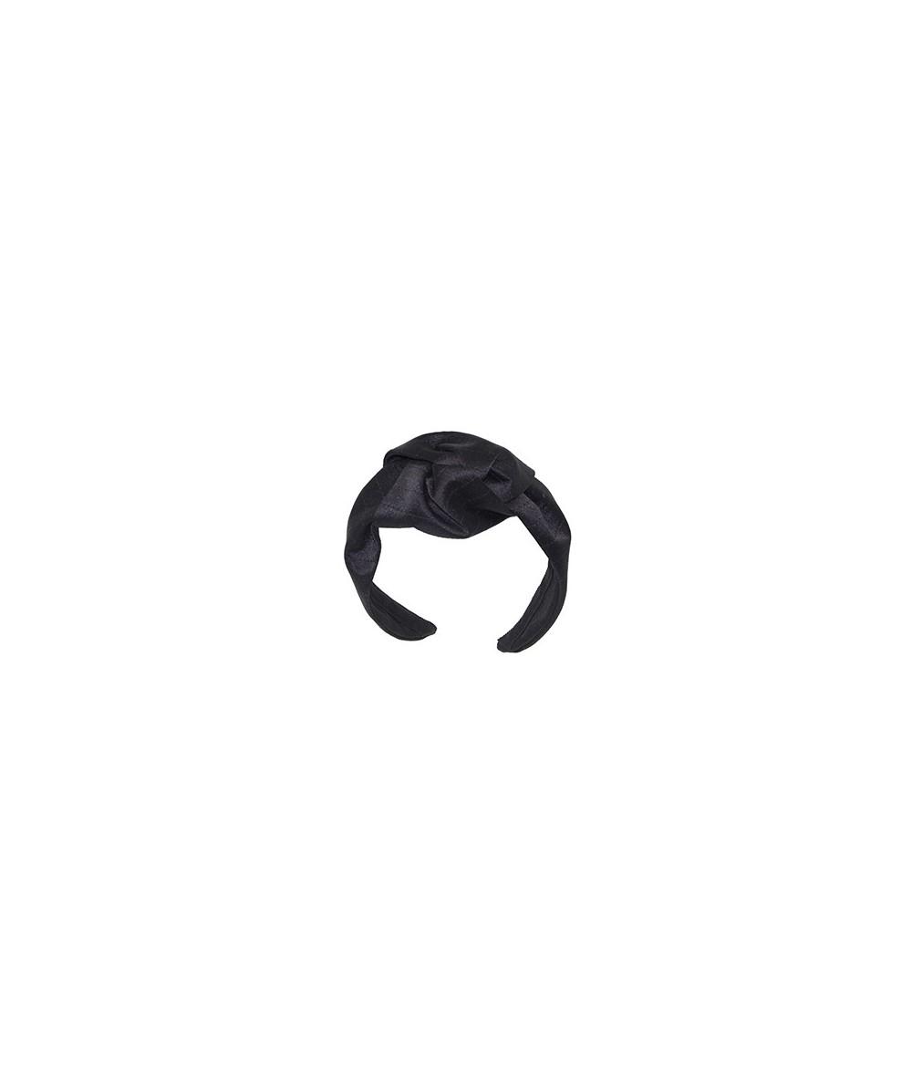 Satin Fabric Morley Headband with Tonal Stitch