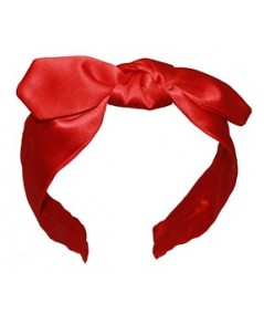 Red Satin Riveter Bow Headband