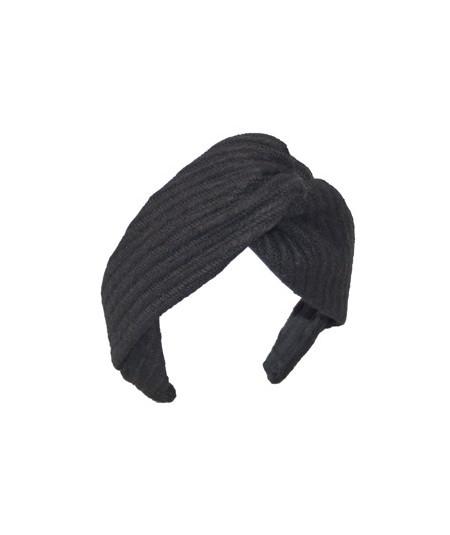 Black Track Wool Twist Headband