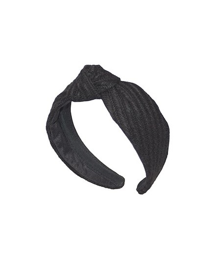 Black Track Wool Center Turban Headband
