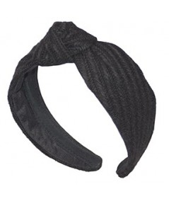 Black Track Wool Center Turban Headband