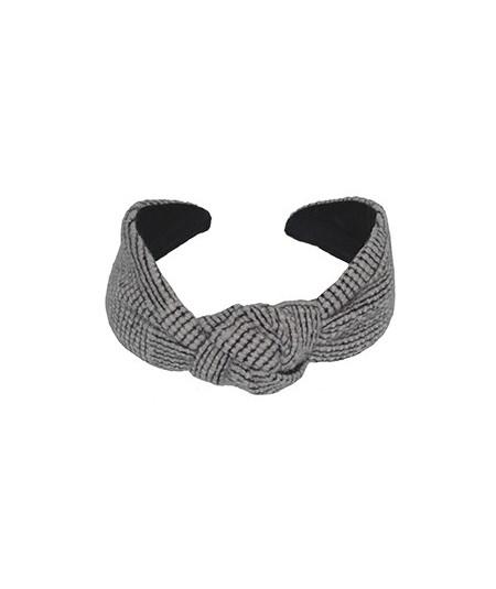 Black Ivory Wool Center Turban Headband