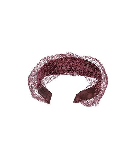 Tonal Velvet Headband with Extra Wide Veiling Knot Turban