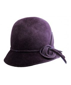 Aubergine Winter Felt Hat