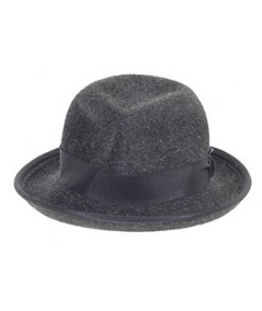Bowler Fedora Mens Hat Grey