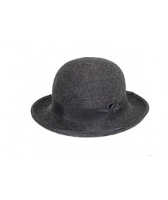 Bowler Mens Grey Wide Brim Hat