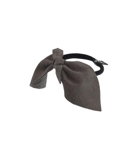 Charcoal Suede Bow Ponytail Holder by Jennifer Ouellette