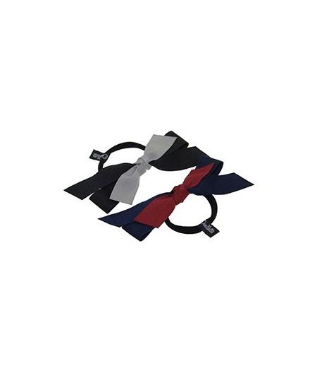 Two Tone Grosgrain Ribbon Hair Elastic