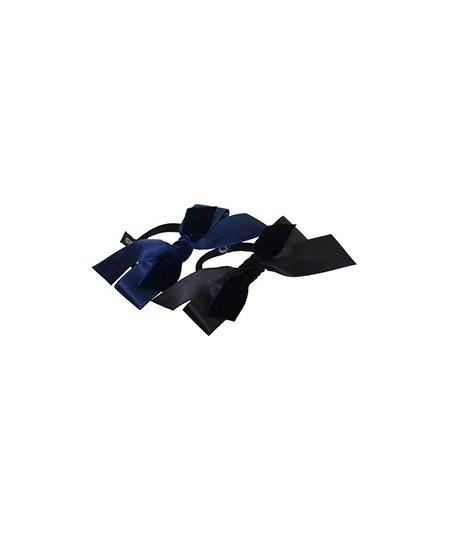 Satin and Velvet Ribbon Bow Hair Tie