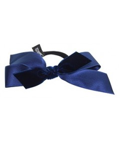 Satin and Velvet Ribbon Bow Hair Tie