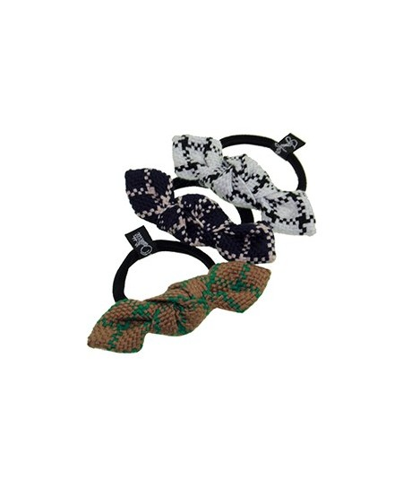 Houndstooth Checkered Small Knot Ponytail Hair Accessory