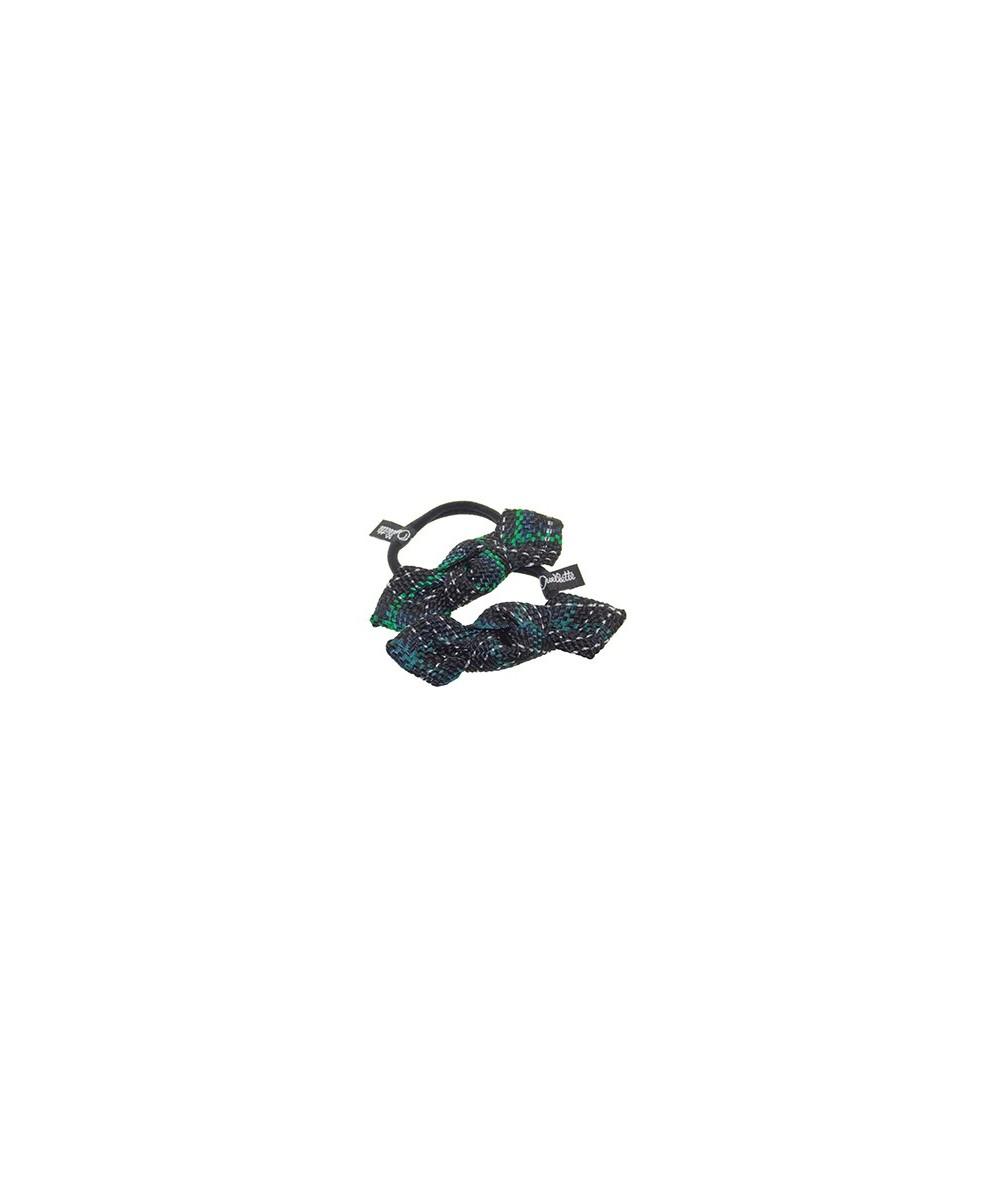 Tartan Plaid Braid Bow Ponytail Holder