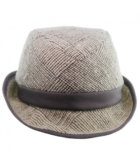 Men's Wool Tweed Fedora Hat