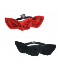 Cotton Twill Small Bowtie Pony with Contrasting Stitch