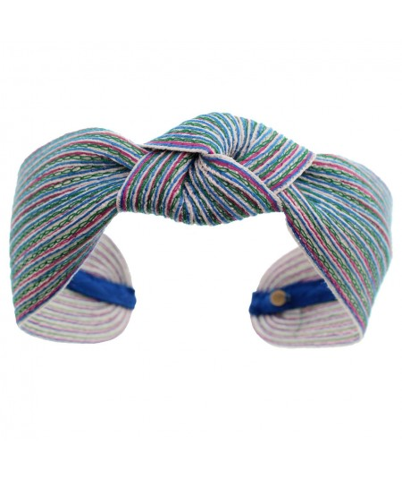 Hirondelle Colored Stitch Wide Center Knot Headband